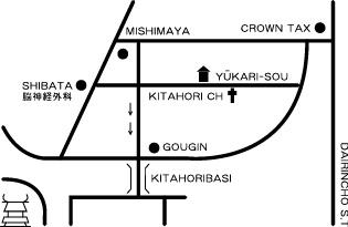 ユーカリ荘地図